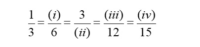 Find equivalent fractions Grade 8 MCQ