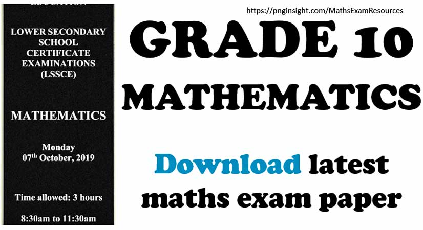 latest grade 10 maths exam paper